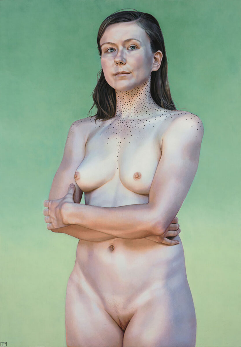 """Teagan McLarnen - """"Get Comfortable with the Uncomfortable"""" figurative painting"""