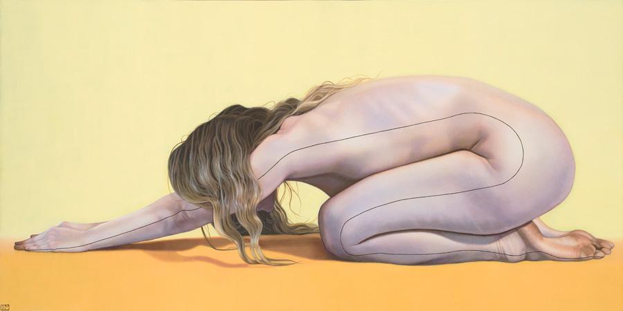 """Teagan McLarnen - """"Orange Kismet"""" nude painting"""