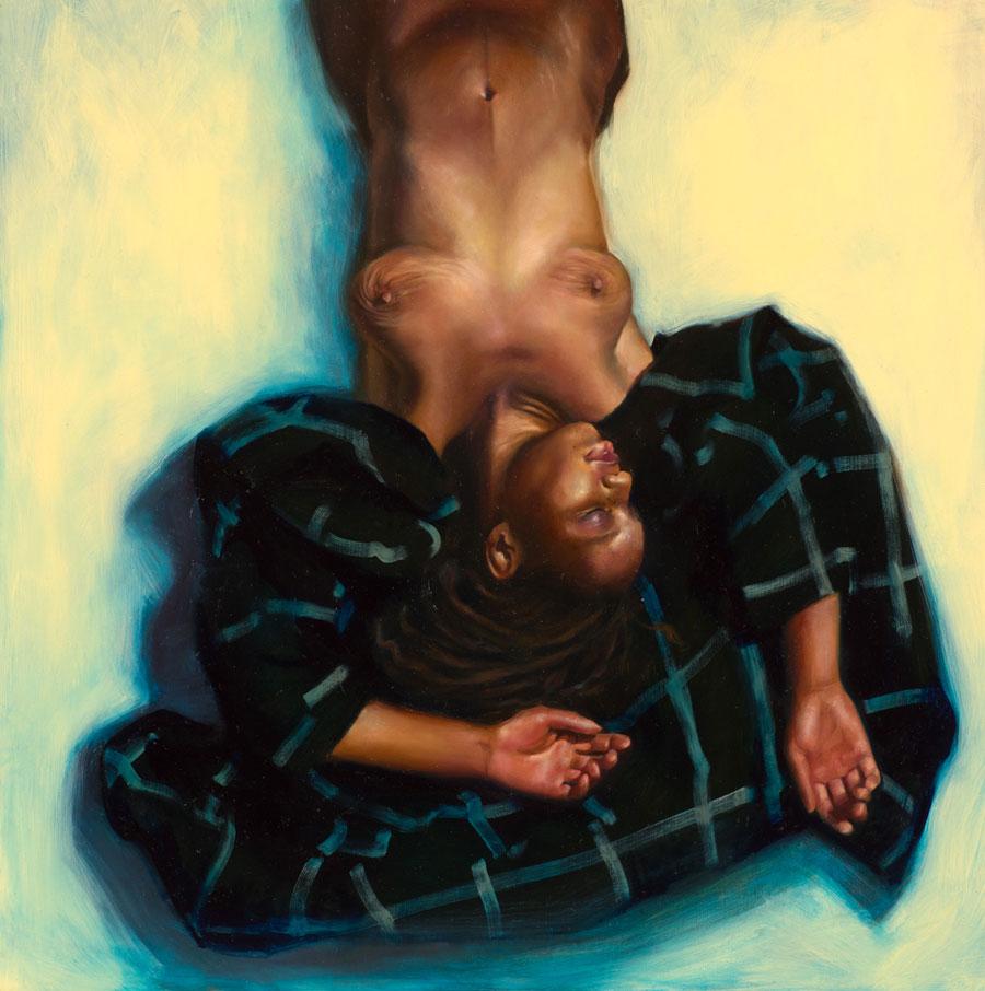 "Zienna Brunsted Stewart - ""Tiger Stripes"" nude painting"
