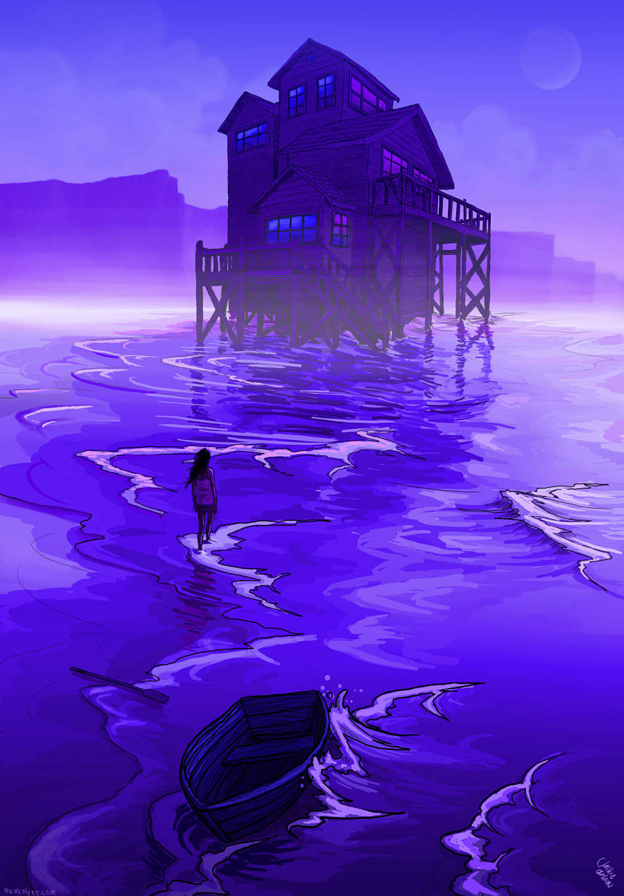 Jacquelin de Leon purple water house digital