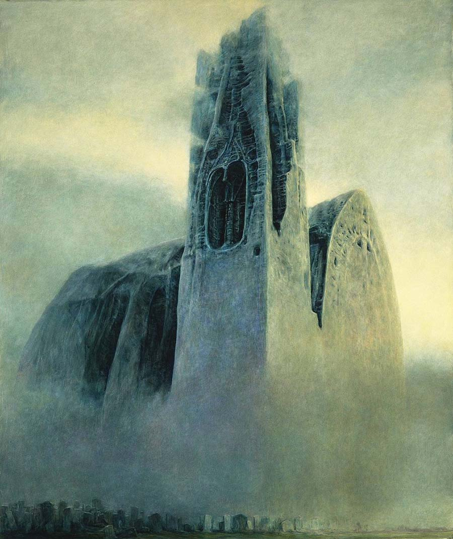 Zdzisław Beksiński dystopian surrealism painting