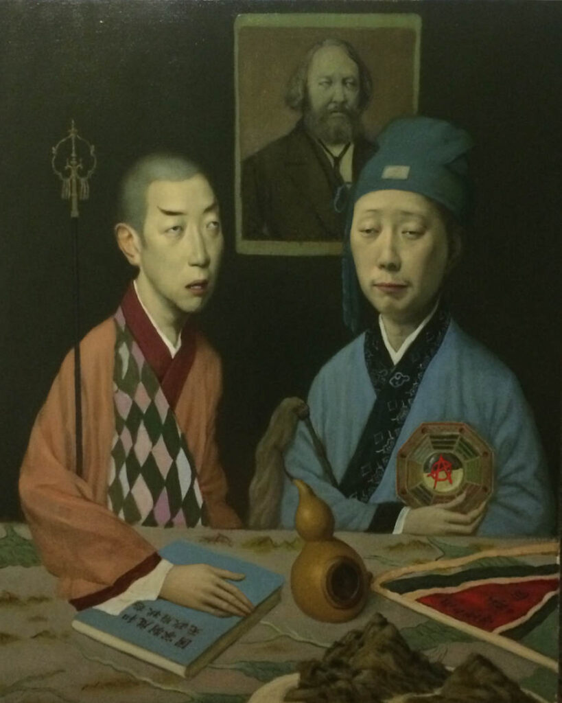 Jeffrey Chong Wang Friends oil painting