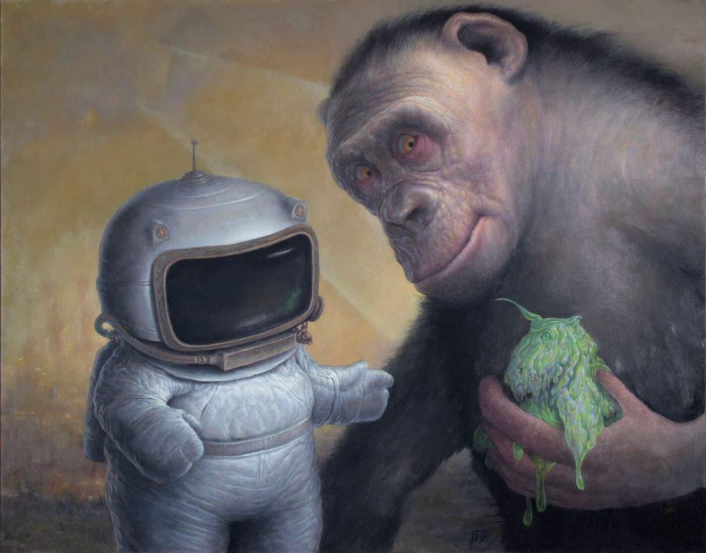 Chris Leib surreal animal painting