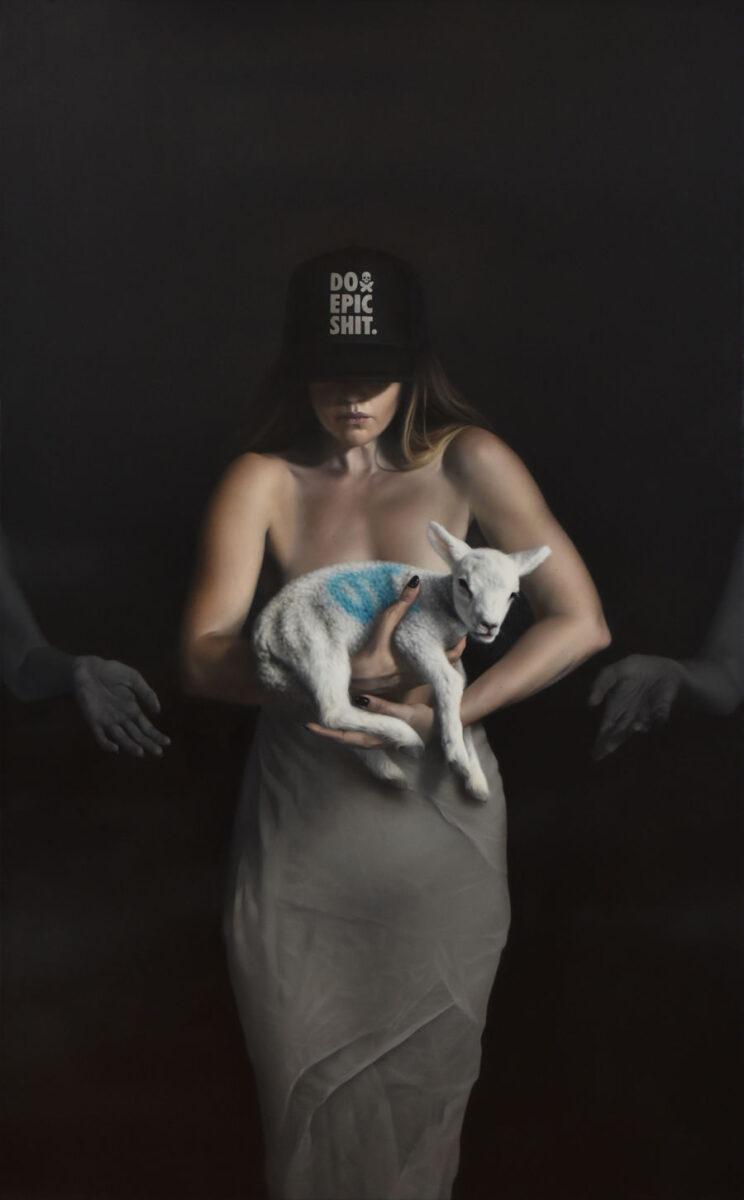 Megan Elizabeth Reed realism painting PoetsArtists Razor's Edge