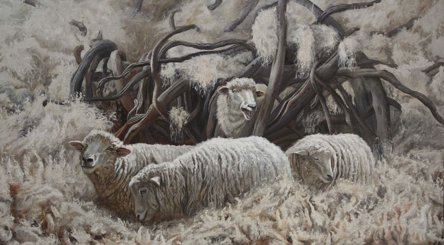 Miguel Escobar surreal animal spiders and sheep paintings