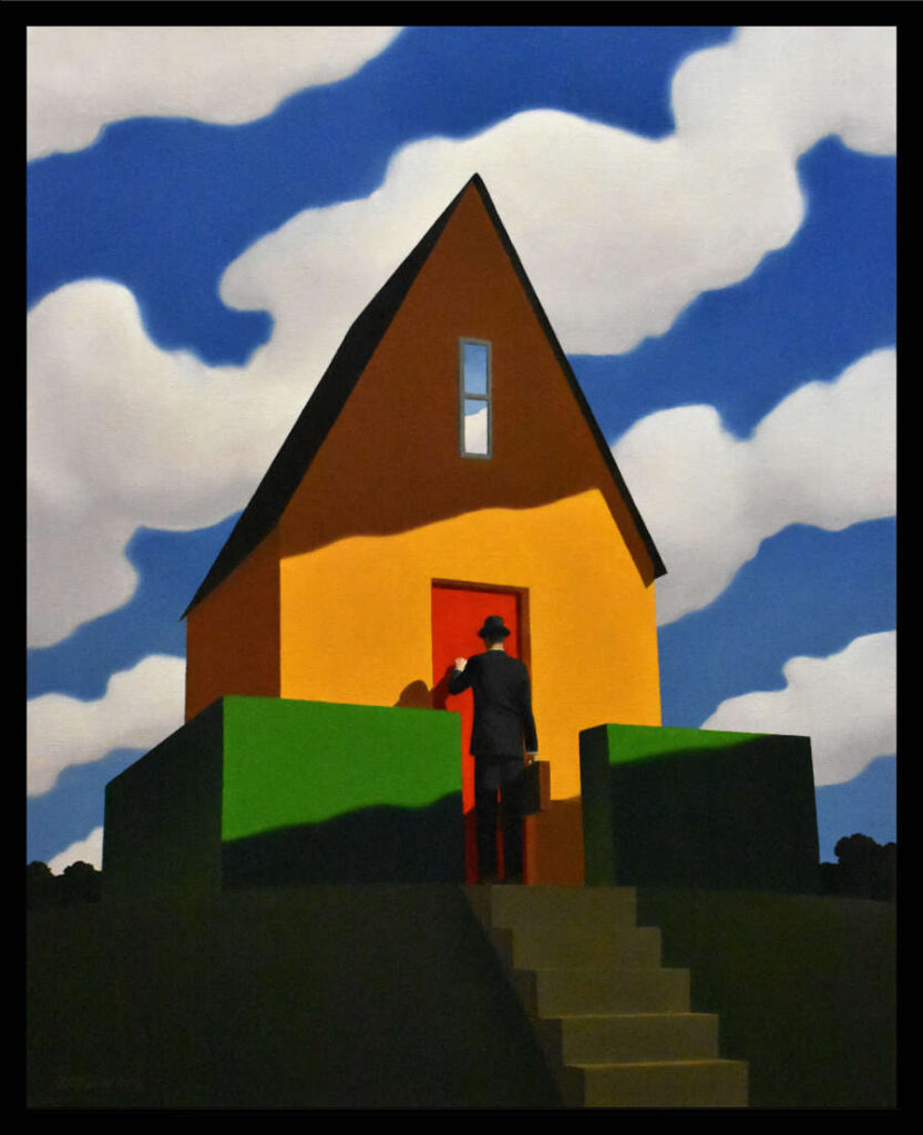 Rob Browning Stairs and Briefcase contemporary art surrealism