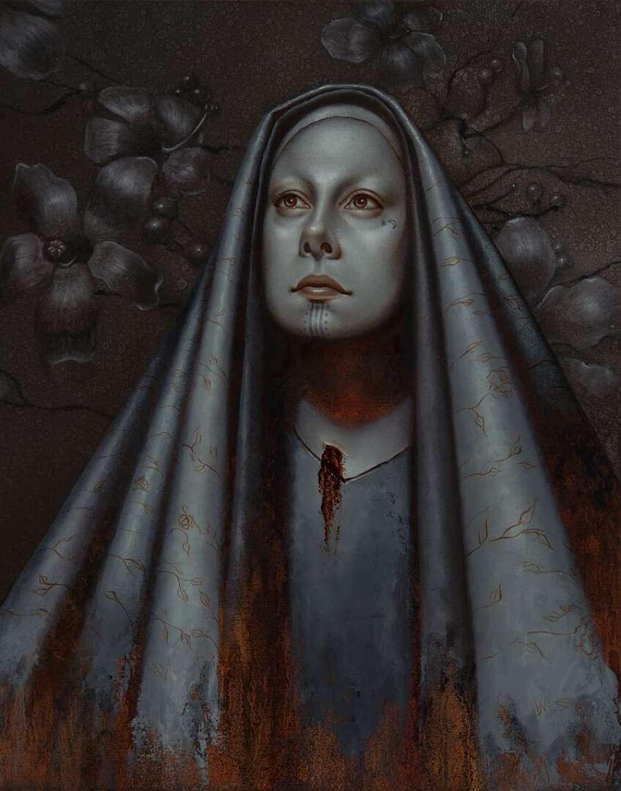 Jasmine Worth surreal dark art painting Modern Eden Gallery