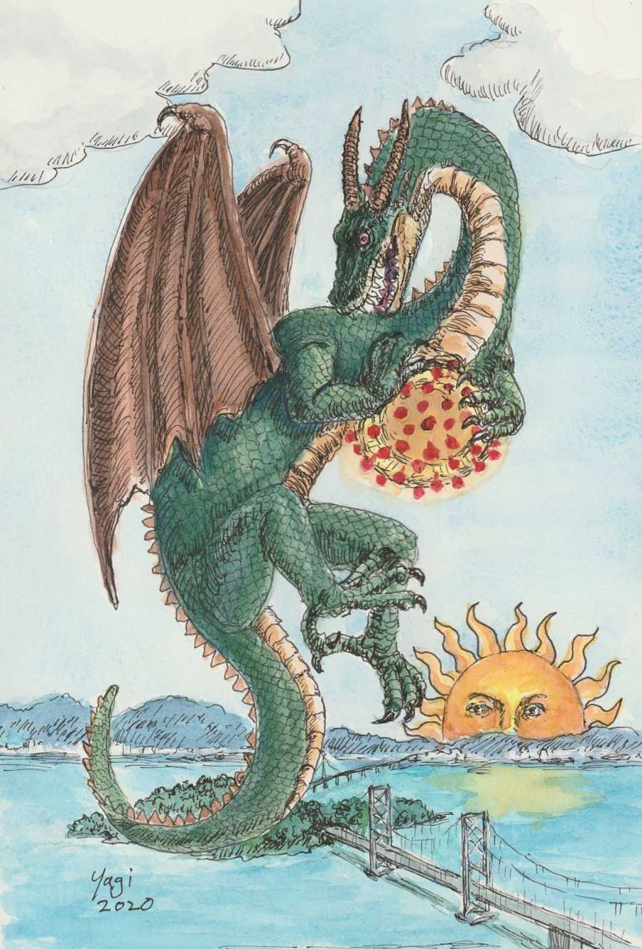 Sandra Yagi surreal dragon artwork Modern Eden Gallery