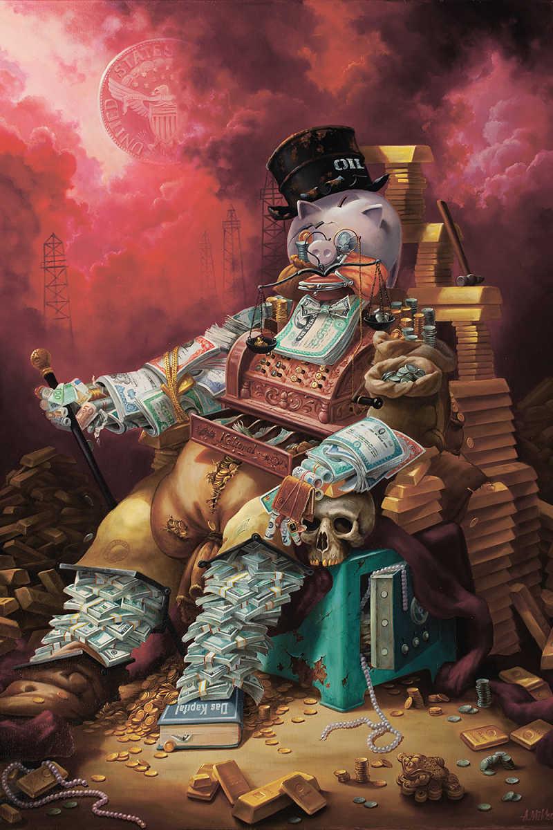 Alexander Mikhalchyk pop surrealism painting