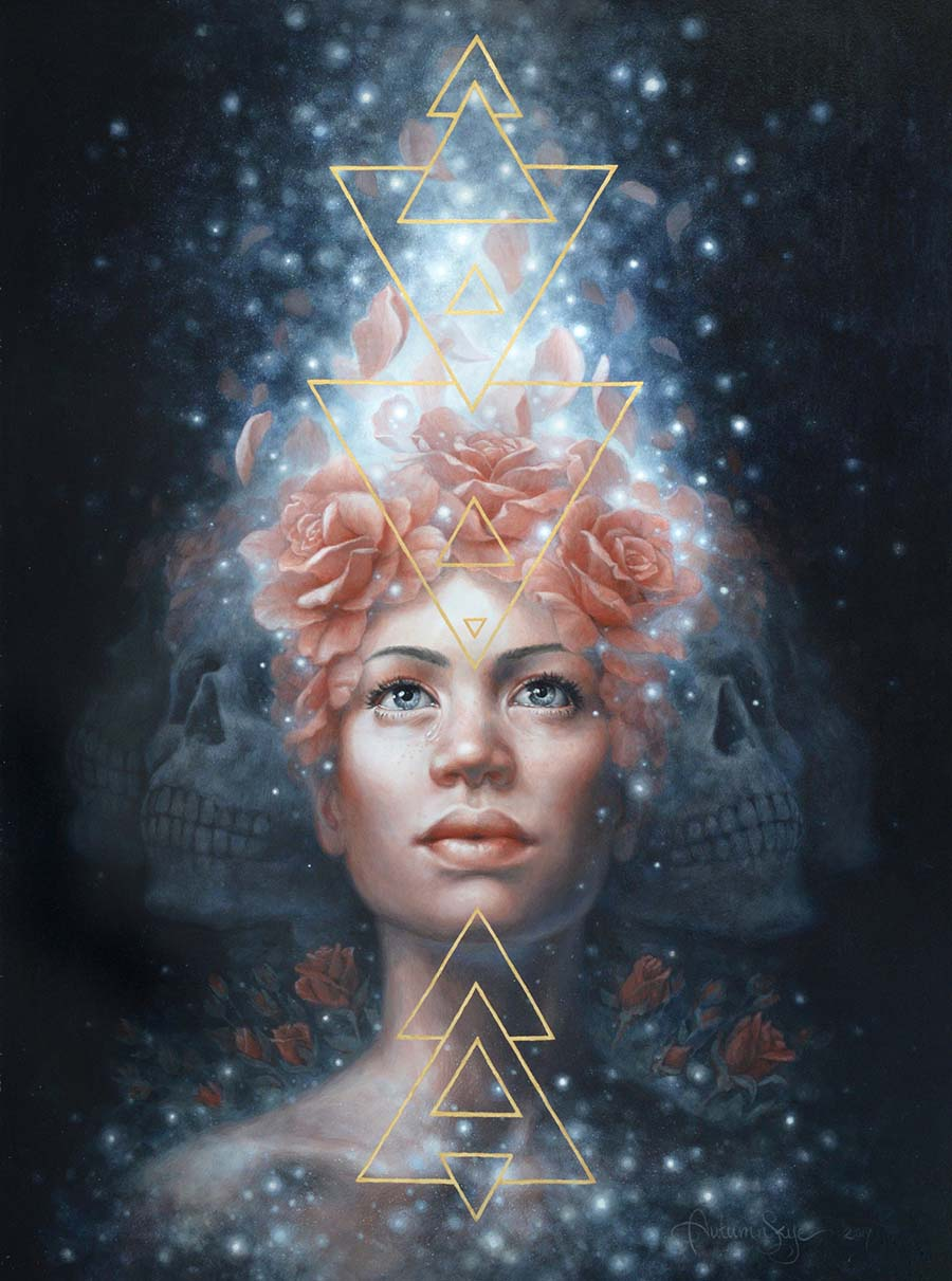 Autumn Skye Morrison - dust to stardust - portrait - painting - beautiful bizarre art prize 2020 - INPRNT Traditional art