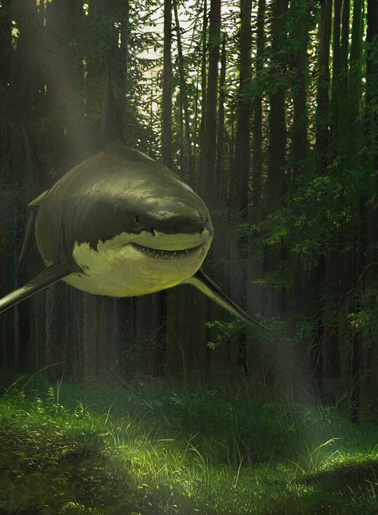 Chris Austin - Always Searching For Your Ghost - surreal shark painting