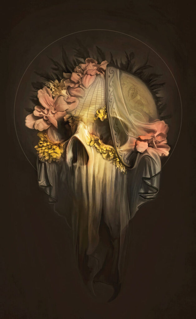 david seidman- skull-marigolds