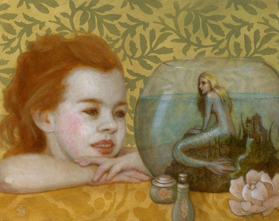 Deirdre Sullivan-Beeman mermay painting Modern Eden Gallery