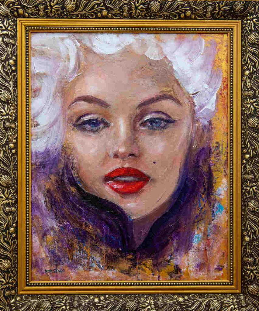 Foksynes Marylin Monroe painting