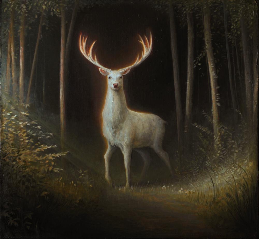Luke Hillestad White Stag at The Dark Art Emporium