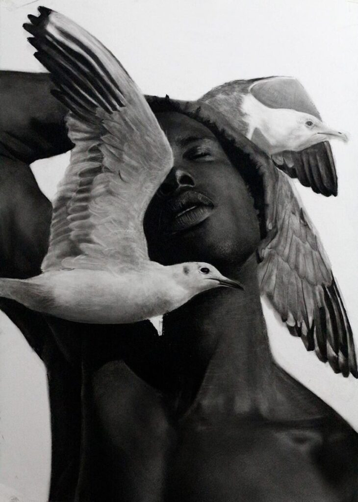 ritchelly oliviera-breathe-man and birds