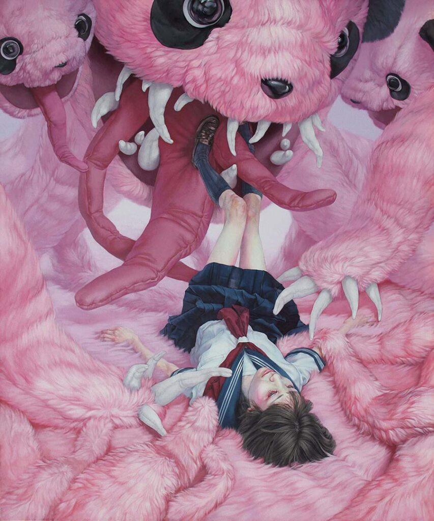 kazuhiro hori-relief-pink bears