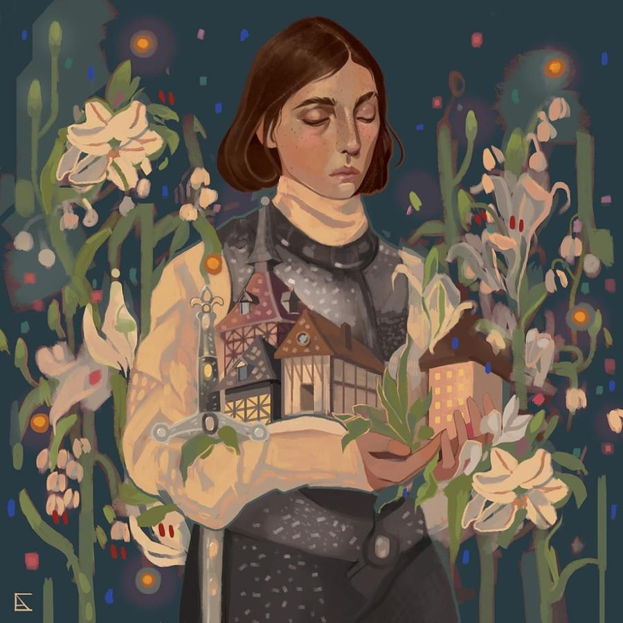 Alejandra Caballero painting of Joan of Arc