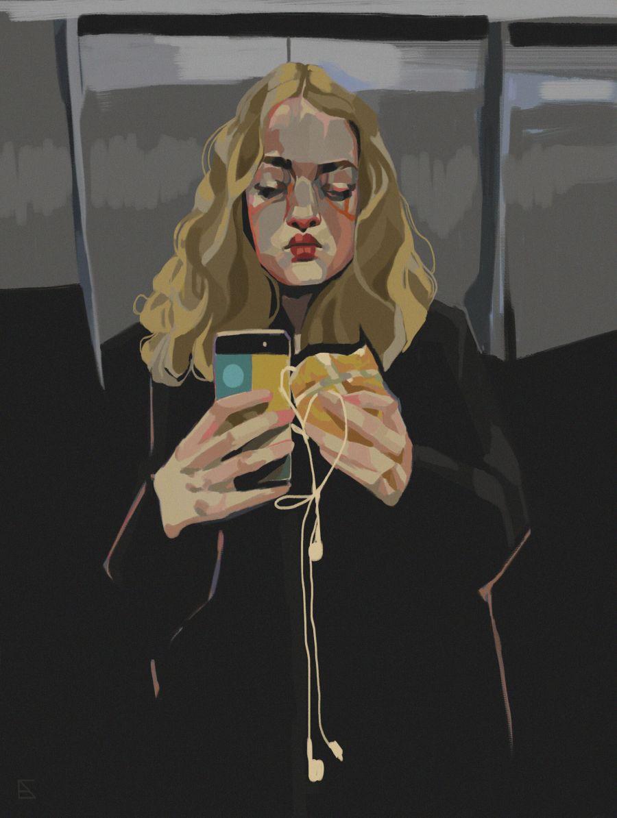 Alejandra Caballero portrait of woman taking a selfie