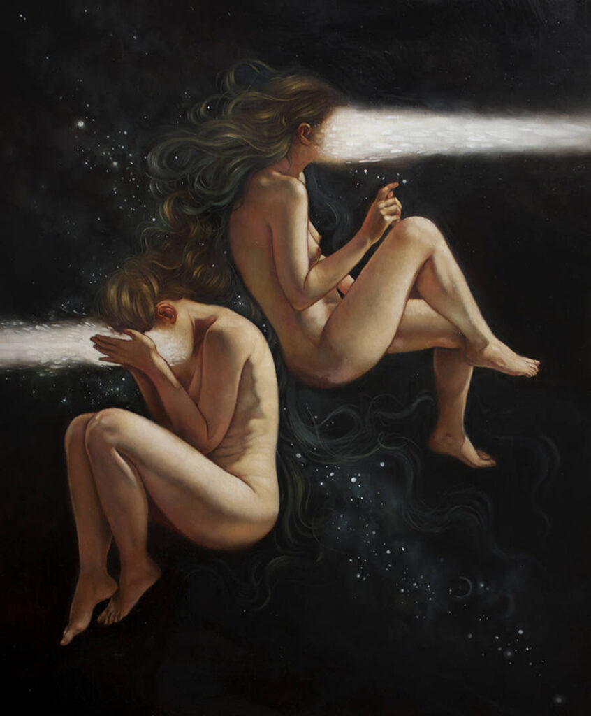Ania Tomicka floating women painting