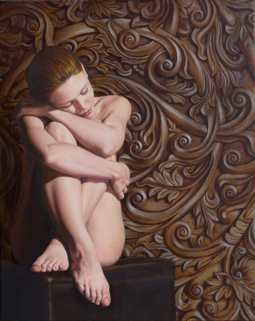 Anne-Marie Zanetti Quietude nude painting PoetsArtists