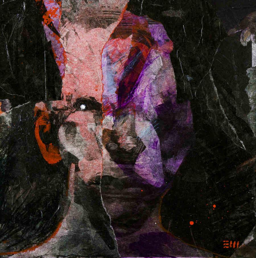 Eli Minaya abstract portrait Every Day Original