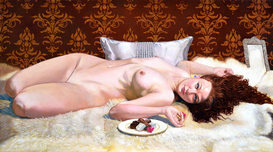 Joseph-Bellofatto-reclining-nude-painting-art-prize-2020