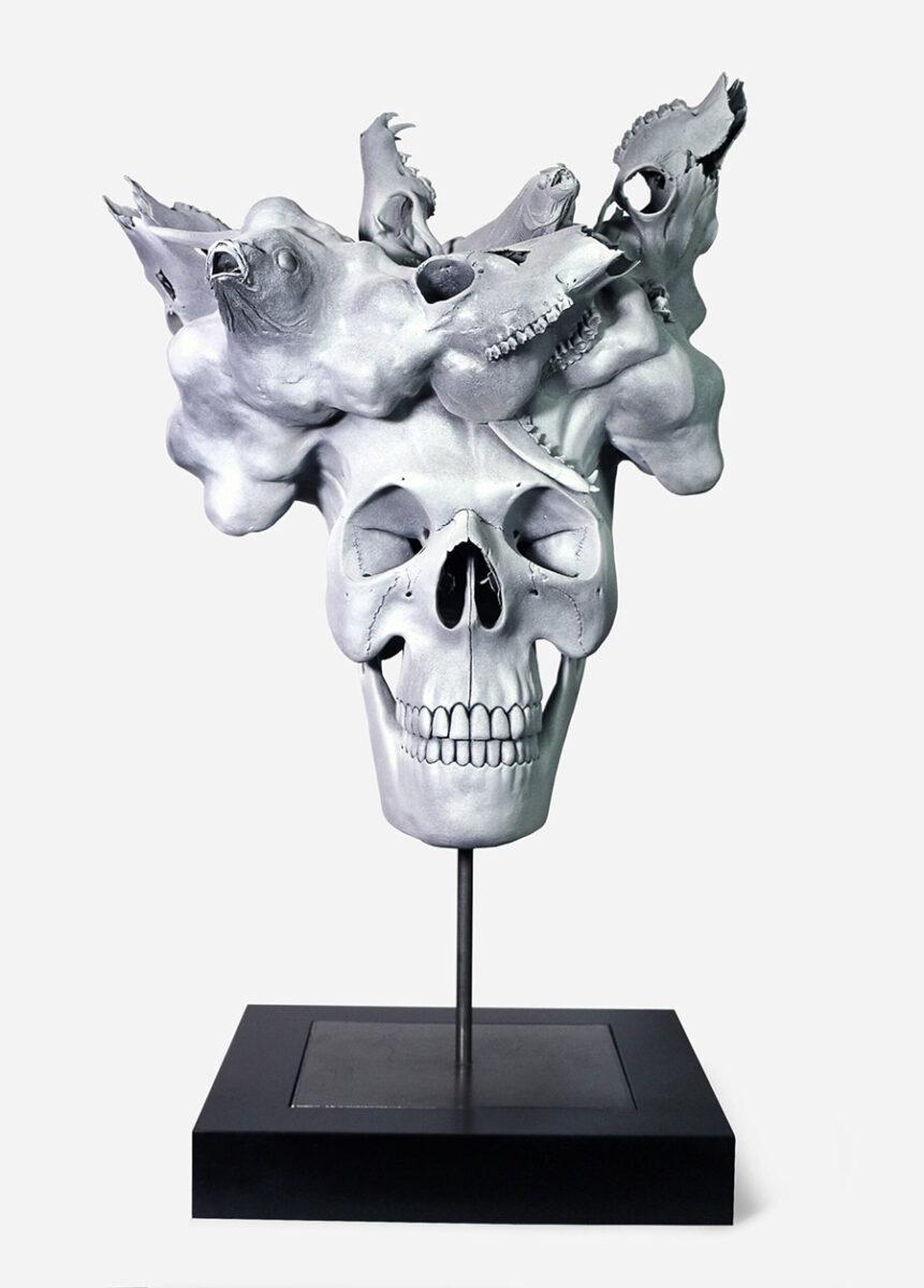 Julia-Hanzl-skull-sculpture-art-prize-2020