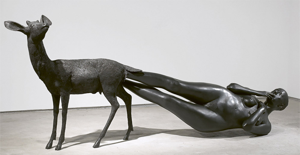"Kiki Smith ""Born"", 2002, Bronze sculpture"