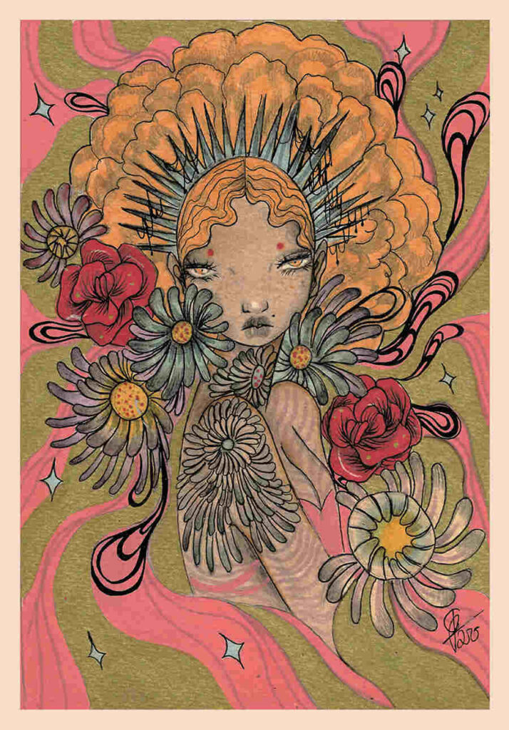 Olivia Rose psychedelic floral Every Day Original