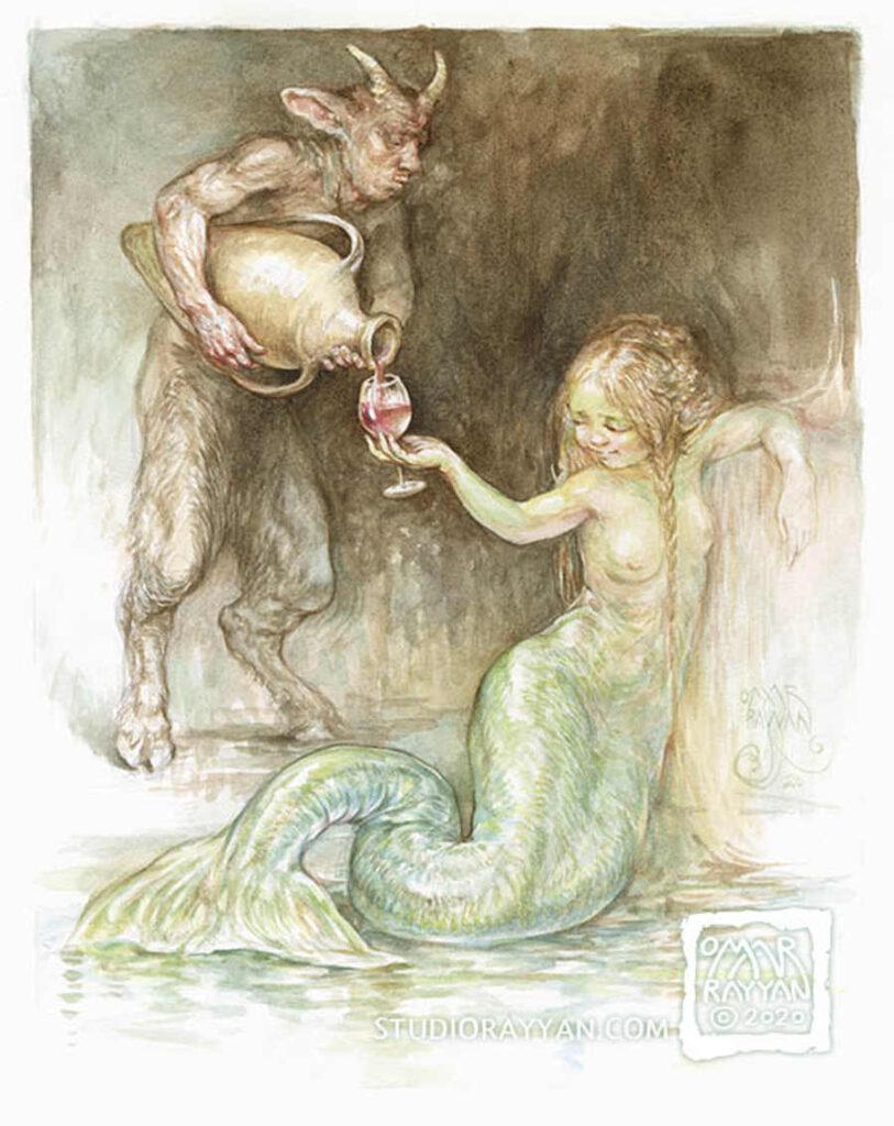 Omar Rayyan mermaid painting
