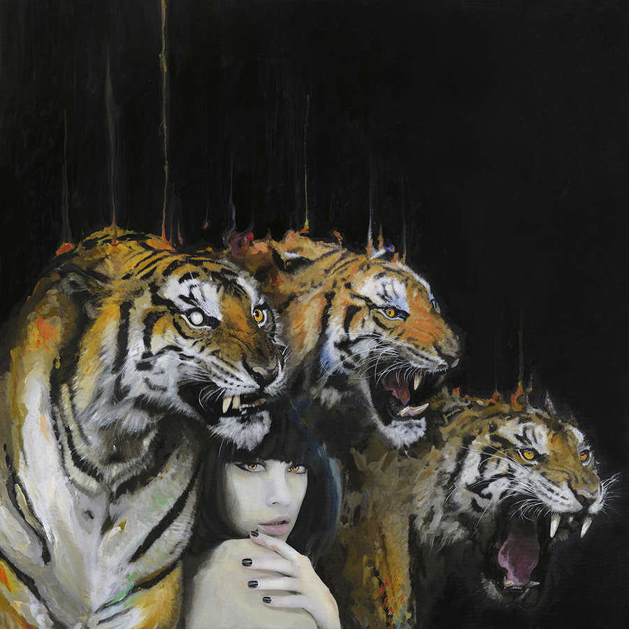 Sait Saturday tigers and woman painting Wild Beasts