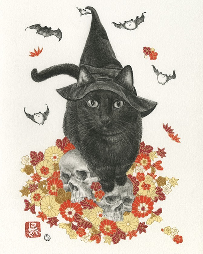 Stephanie Inagaki cat illustration Luxe Paws Copro Gallery