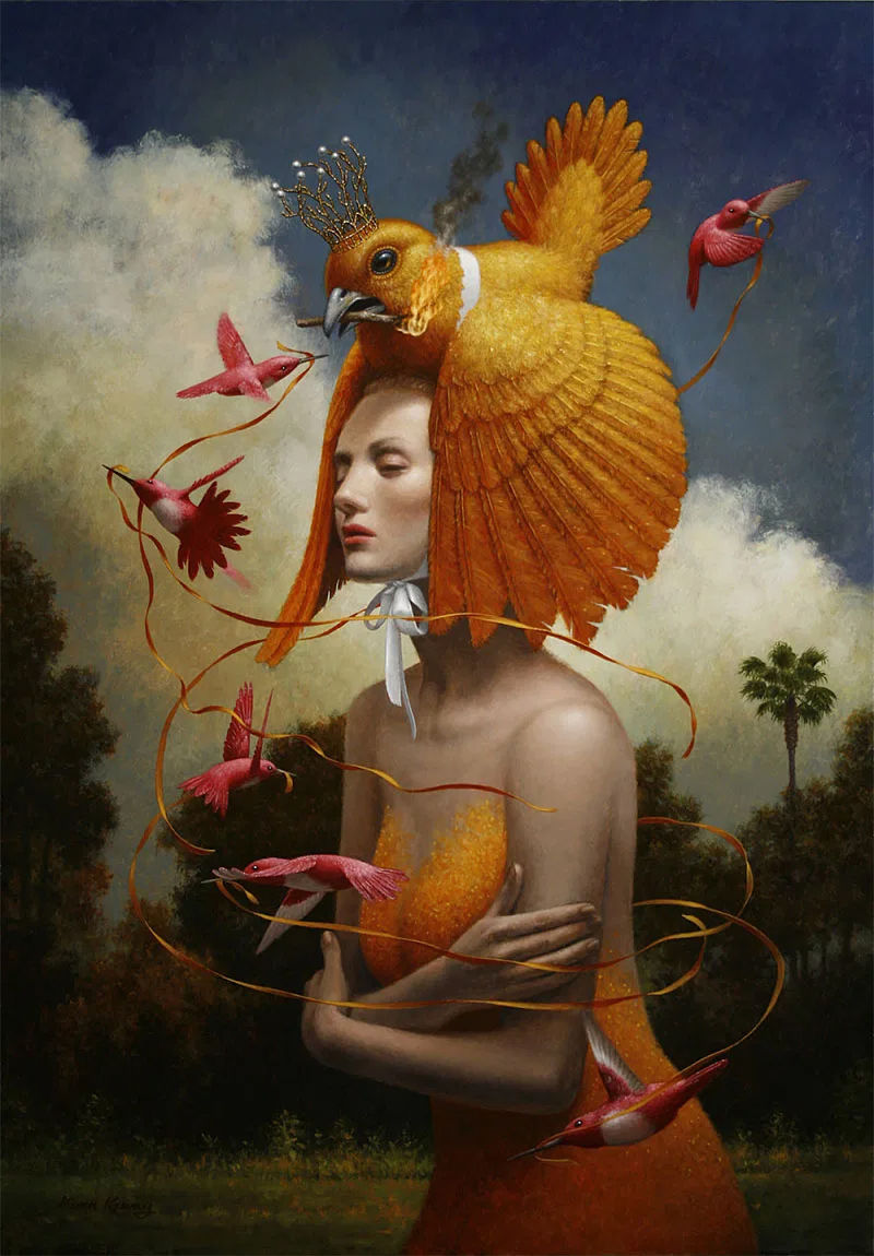 Steven Kenny surreal painting The Ribbons
