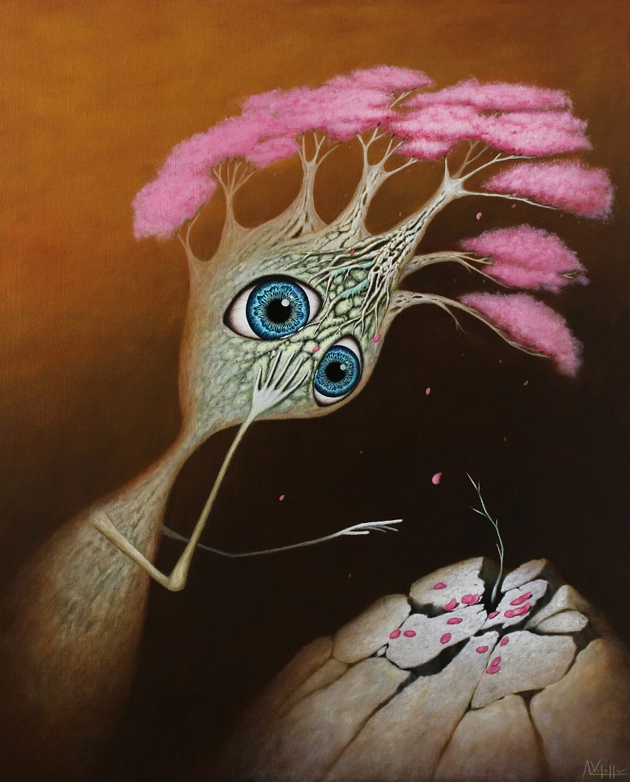 August Vilella Surreal Oil Painting