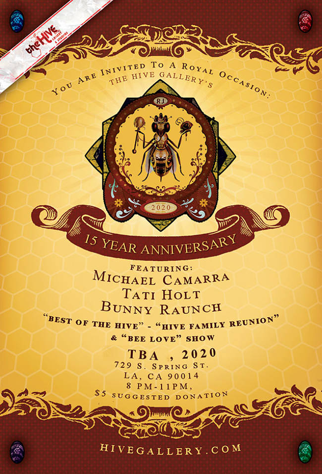 15 Year Anniversary Show at The Hive Gallery & Studios